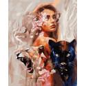 Девушка с пантерой Раскраска картина по номерам на холсте GX38508