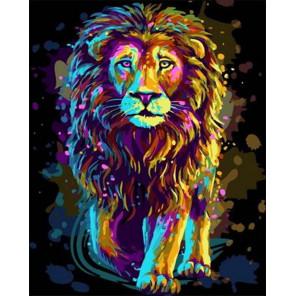 Сияющий лев Раскраска картина по номерам на холсте GX38474