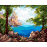 Каменистый берег Раскраска картина по номерам на холсте GX38469