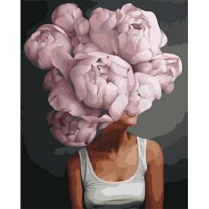 Девушка-цветок. Уверенность в себе Раскраска картина по номерам на холсте GX38445
