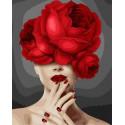 Девушка-цветок. Пылающая страсть Раскраска картина по номерам на холсте GX38429