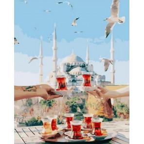 Романтическое чаепитие Раскраска картина по номерам на холсте GX38333