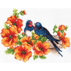 Ласточки Набор для вышивания Многоцветница МКН 24-14