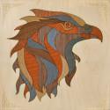 Золотой грифон Набор для создания картины на дереве ( апликация из натурального шпона) KD0212