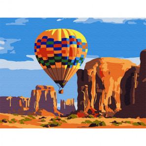 Воздушный шар Раскраска картина по номерам на холсте (холст на твердой основе) KH0786