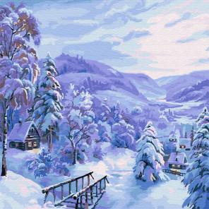 Снежная сказка Раскраска картина по номерам на холсте KH0737