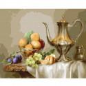 Натюрморт с фруктами Раскраска картина по номерам на холсте KH0673