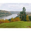 Осень на Оке Раскраска картина по номерам на холсте KH0674