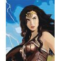 Чудо-женщина/ Диана Раскраска картина по номерам на холсте с металлической краской AAAA-RS075-80x100