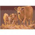 Корова и телята Раскраска картина по номерам на холсте