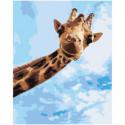 Веселый жираф 100х125 Раскраска картина по номерам на холсте