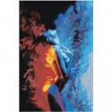 Девушка лед и пламя 80х120 Раскраска картина по номерам на холсте