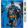 В синем плаще неоновый 100х125 Раскраска картина по номерам на холсте