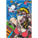 Девушка в купальнике у бассейна 80х120 Раскраска картина по номерам на холсте