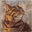 Мудрый кот 80х80 Раскраска картина по номерам на холсте