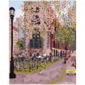 Цветущий город Раскраска картина по номерам на холсте