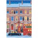 Рождественский Лондон Раскраска картина по номерам на холсте