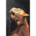 Изворотливый кот 100х150 Раскраска картина по номерам на холсте