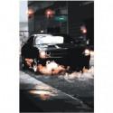 Гоночный автомобиль 80х120 Раскраска картина по номерам на холсте