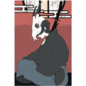 Воин аниме Раскраска картина по номерам на холсте