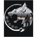 Волк Ведьмак 80х100 Раскраска картина по номерам на холсте
