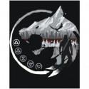 Волк Ведьмак 100х125 Раскраска картина по номерам на холсте