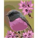 Пурпурная птичка Раскраска картина по номерам на холсте