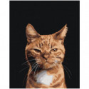 Хитрый рыжий кот 80х100 Раскраска картина по номерам на холсте