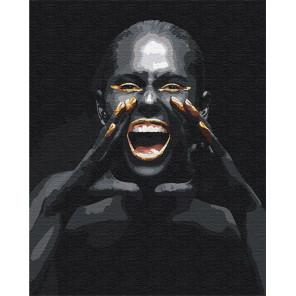 Пример в интерьере Крик / Африканка 100х125 см Раскраска картина по номерам на холсте с металлической краской AAAA-RS080-100x12