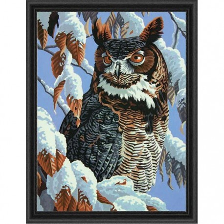 Зимнее наблюдение Раскраска (картина) по номерам акриловыми красками Dimensions