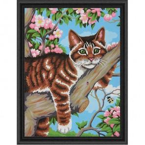 Ленивый кот Раскраска (картина) по номерам Dimensions
