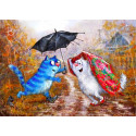 Ты, я и зонтик Алмазная мозаика вышивка Гранни