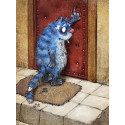 Возвращение блудного кота Алмазная мозаика вышивка Гранни