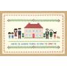 Пример оформления в рамку Дом с красной крышей Набор для вышивания XIU Crafts 2870701