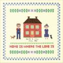 Дом красного цвета Набор для вышивания XIU Crafts 2870704