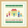 Пример оформления в рамку Дом желтого цвета Набор для вышивания XIU Crafts 2870702