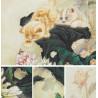 Коты и пионы Набор для вышивания XIU Crafts 2031101