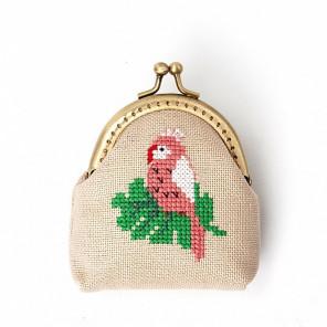 Розовый попугай Набор для вышивания кошелька XIU Crafts 2860405
