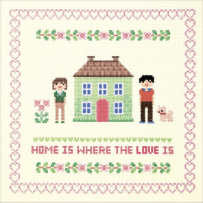 Дом зелёного цвета Набор для вышивания XIU Crafts 2870703