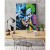 Пример в интерьере Бэтман и Джокер Раскраска картина по номерам на холсте с неоновыми красками AAAA-RS083