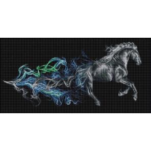 Конь в дыму Алмазная вышивка мозаика АЖ-1828