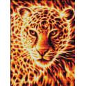 Огненный леопард Алмазная вышивка мозаика АЖ-1849