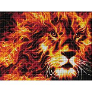 Огненный лев Алмазная вышивка мозаика АЖ-1851