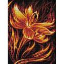 Огненный цветок Алмазная вышивка мозаика АЖ-1852