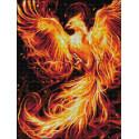Огненный феникс Алмазная вышивка мозаика АЖ-1853