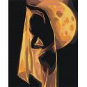 Девушка и луна / Танец 80х100 см Раскраска картина по номерам на холсте AAAA-RS086-80x100