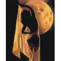 Девушка и луна / Танец 100х125 см Раскраска картина по номерам на холсте AAAA-RS086-100x125