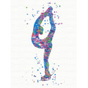 Бильман / Фигурное катание Раскраска картина по номерам на холсте с неоновыми красками AAAA-RS087