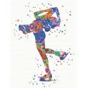 Вращение / Фигурное катание Раскраска картина по номерам на холсте с неоновыми красками AAAA-RS088