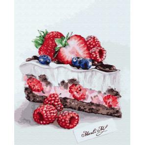 Вкусный кусочек Раскраска картина по номерам на холсте GX26996
